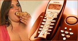 dicke Frauen am Telefon